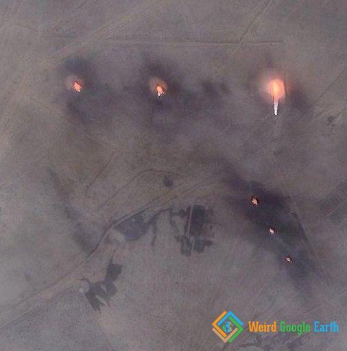 Oil Well Fire, Basrah, Iraq