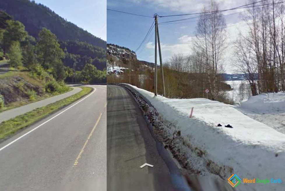 Rapid Change of Seasons in Norway
