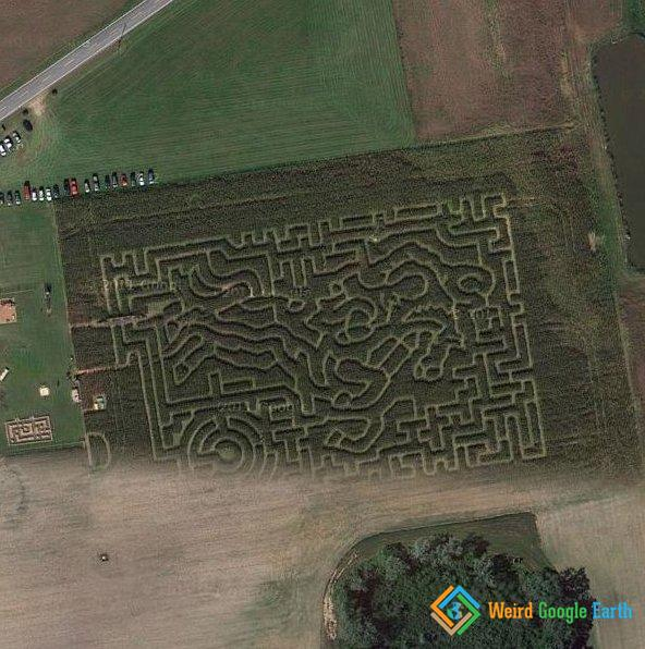 Scarecrow Hollow Cornfield Maze, Salem, New Jersey, USA