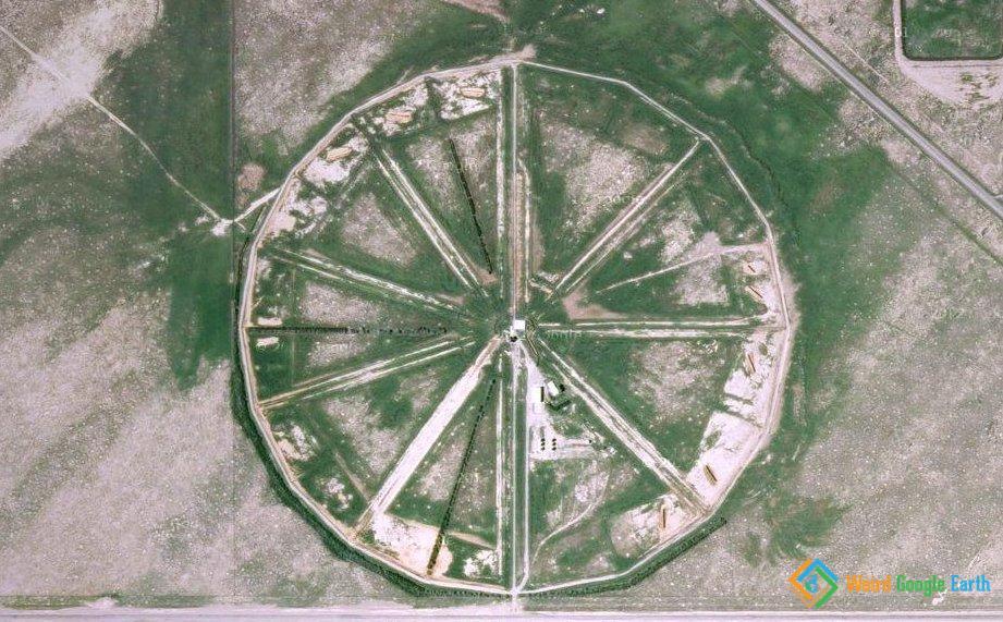 Strange Wagon Wheel in Terreton, Idaho, USA
