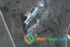 Wildfires in Savannah, Macleantown, South Africa