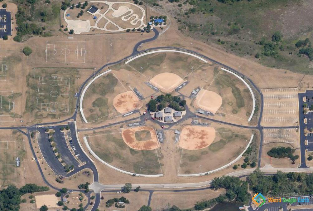 Giant Pentagram, Orland Park, Illinois, USA