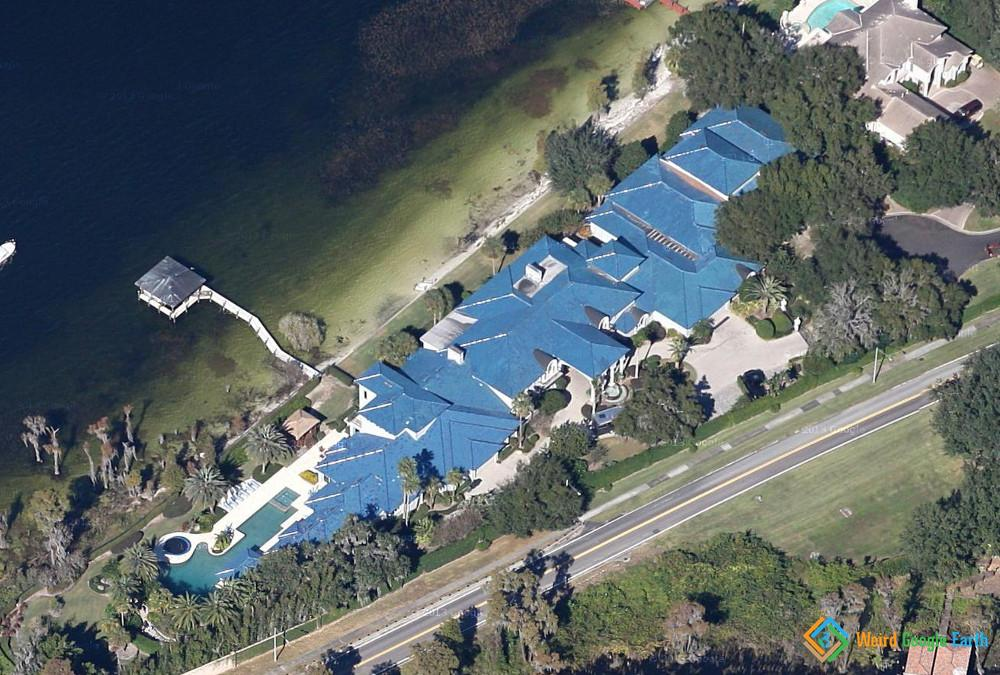 weird google earth shaquille o neal s house