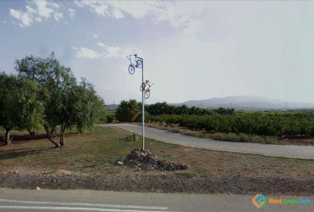 Bikes on a Pole, Catadau, Valencia, Spain