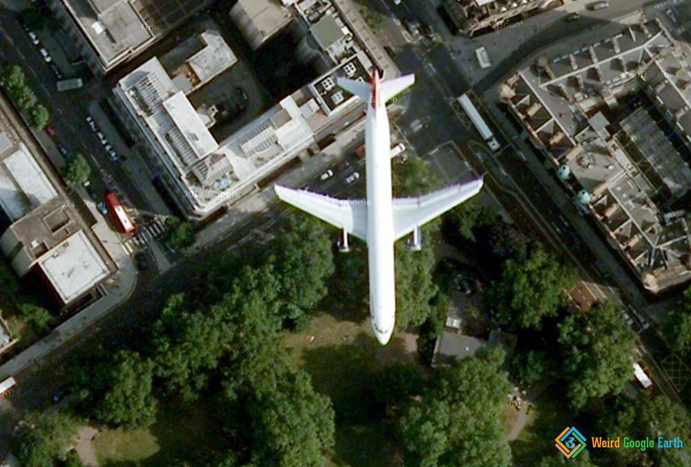 Flying Plane, London, UK