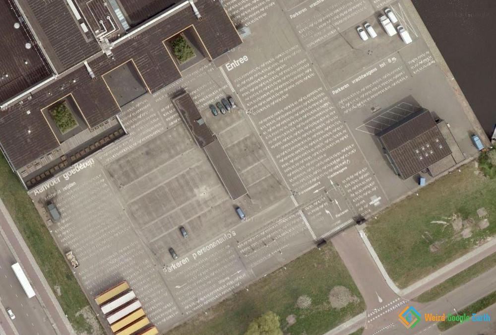 Newspaper Parking Lot, Amsterdam, The Netherlands