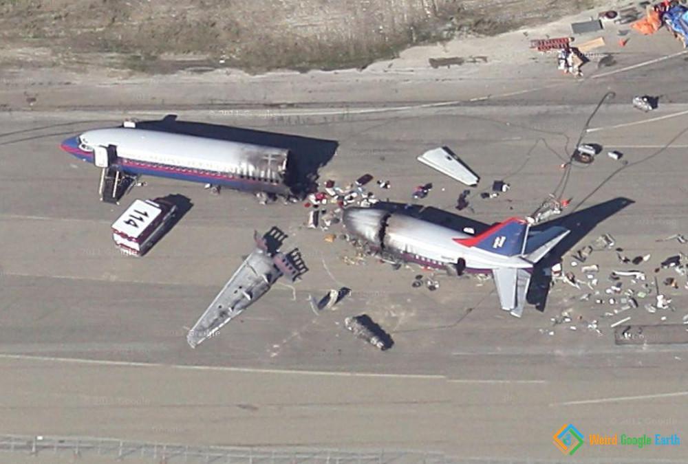 Plane Crash - Weird Google Earth