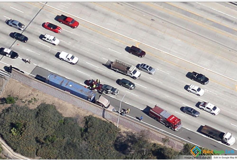 Accident, Santa Ana, California, USA