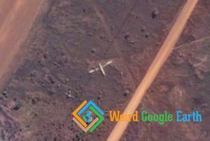 Plane Wreckage at Luzamba Airport, Cuango-Luzamba, Angola
