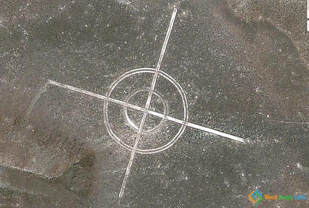 Crosshair Bomb Target, Nevada, USA