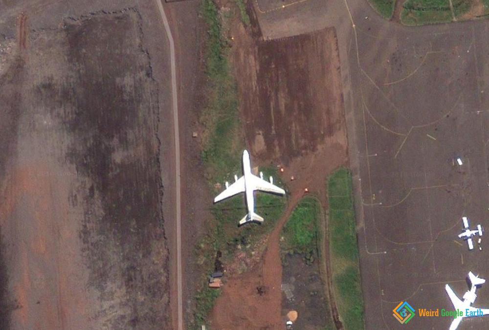 Grounded Plane, Goma, Democratic Republic of the Congo