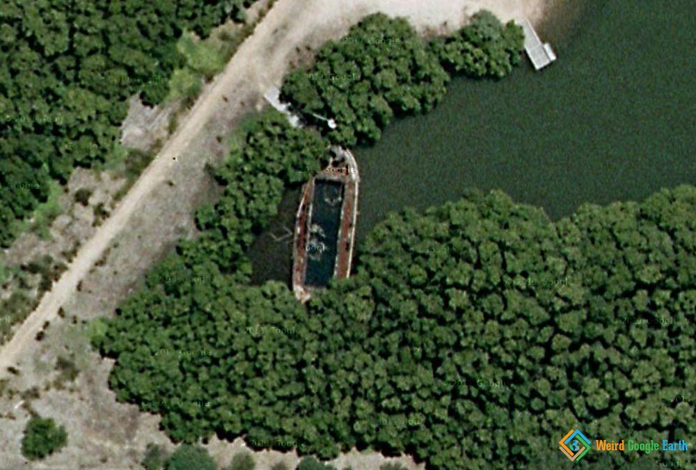 HMAS Karangi Shipwreck, Homebush Bay, Concord West, New South Wales, Australia