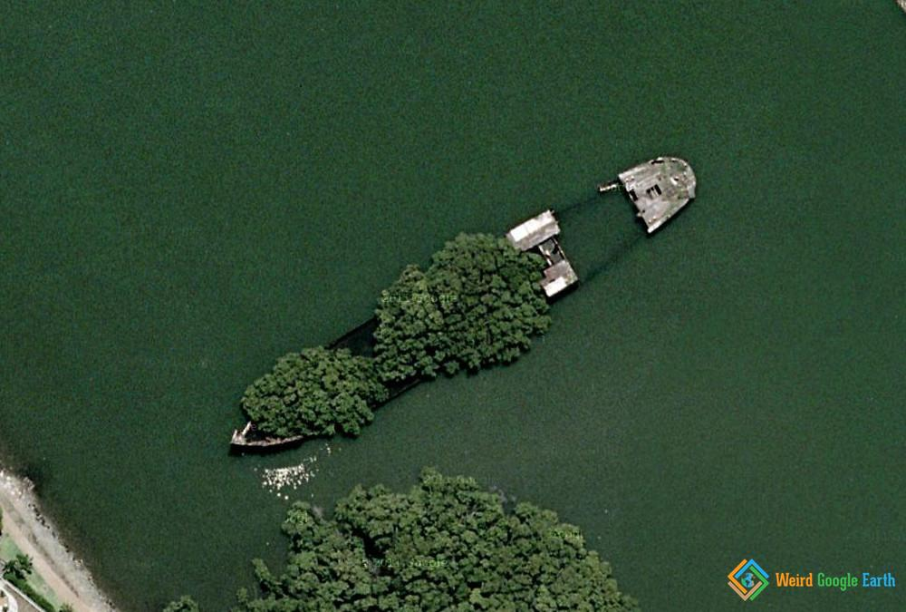 SS Ayrfield Shipwreck, Homebush Bay, Wentworth Point, New South Wales, Australia