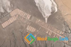 Salt Evaporation Ponds, Sonora, Mexico