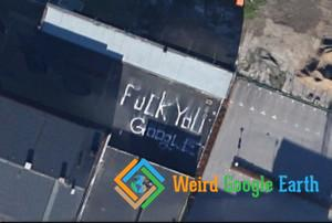 A Rooftop Message to Google, Malmö, Sweden