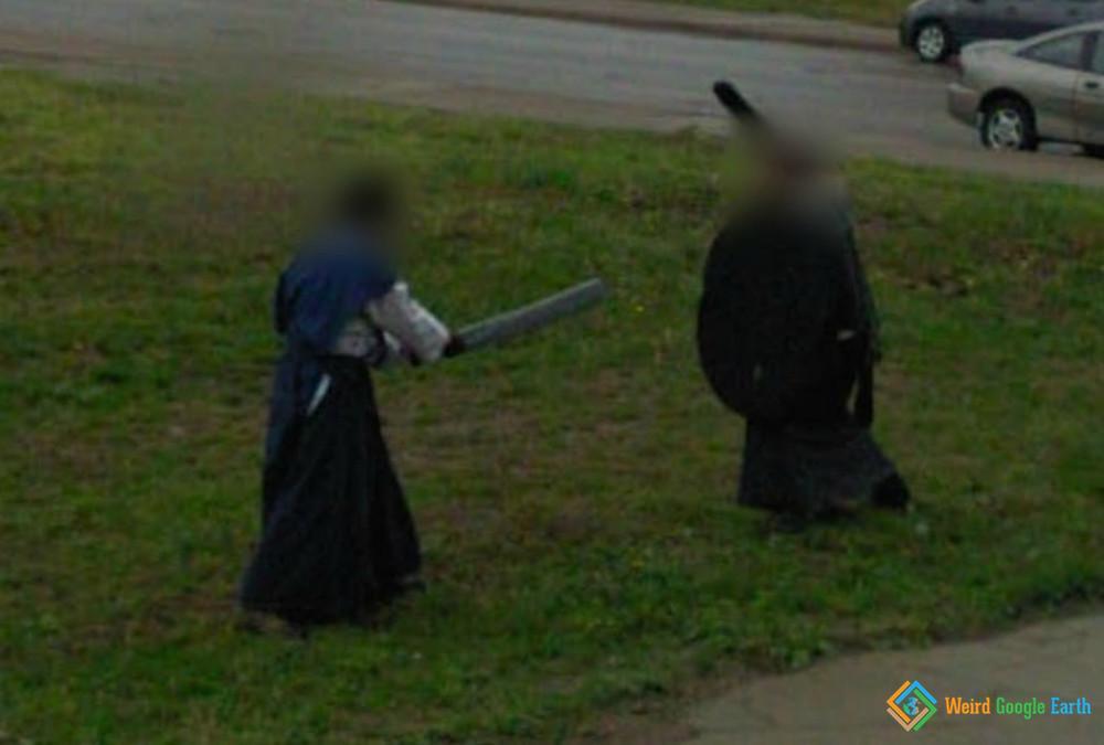 Sword Fight, Pittsburgh, Pennsylvania, USA