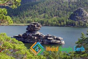 Kazakh Sphinx, Zhumbaktas, Lake Borovoe, Kazakhstan