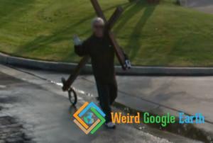 Man Dragging a Cross, Bakersfield, California