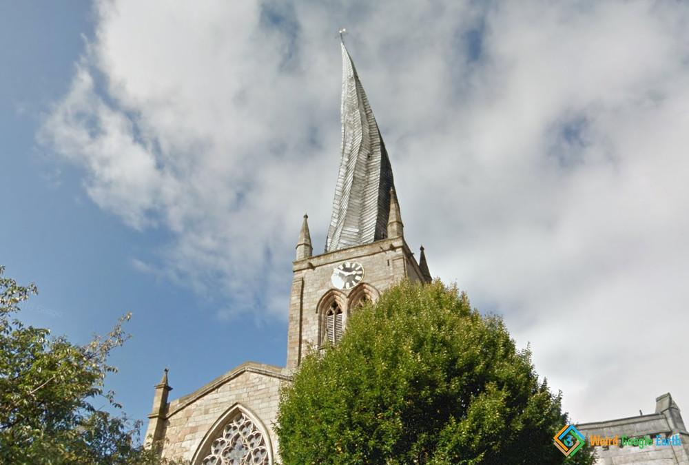 Church Twisted Spire, Chesterfield, Derbyshire, UK