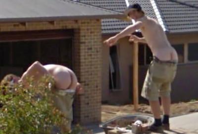Aussie Lads with Arses Out, Ballarat, Victoria, Australia