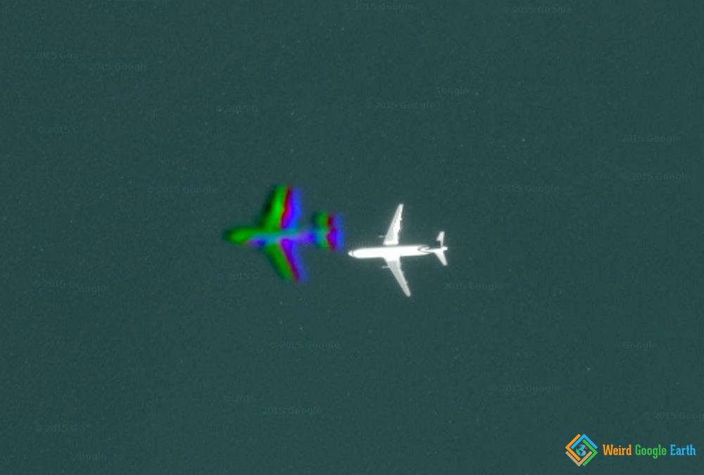 Plane over Dubai, UAE