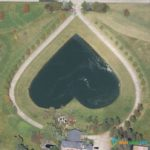Heart-Shaped Lake in Columbia Station, Ohio, USA