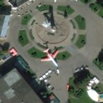 Grounded Plane, All-Russian Exhibition Center, Moscow, Russia