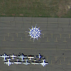 Wind Rose at an Airport, Watkins, Colorado, USA