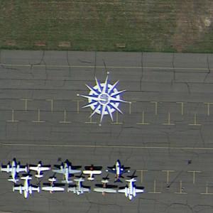 Wind Rose at an Airport, Watkins, Colorado, USA