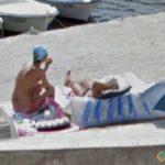 Sunbathing in Croatia, Okrug Gornji, Croatia