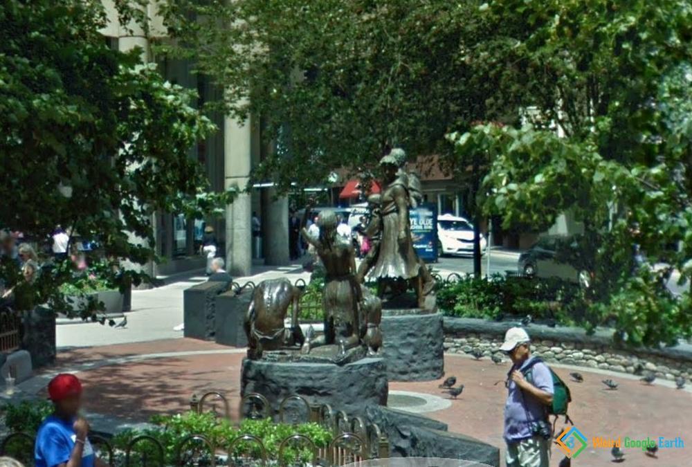 Irish Famine Memorial, Boston, Massachusetts, USA