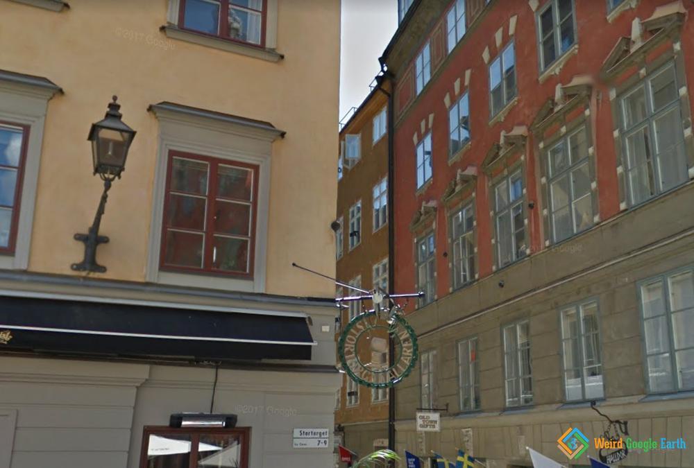 Cannonball in Stortorget, Stockholm, Sweden
