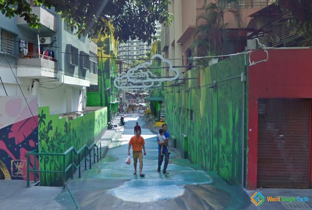 Kuala Lumpur Street Art Alleys, Kuala Lumpur, Malaysia