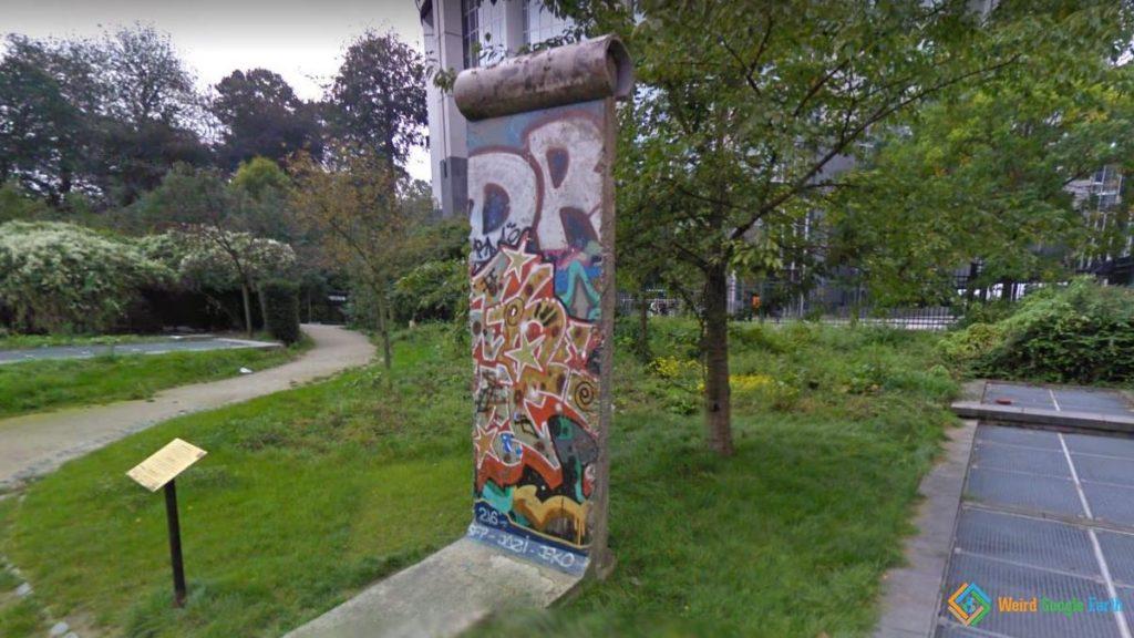 A Piece of Berlin Wall, Brussels, Belgium