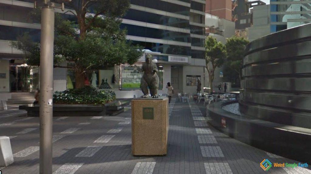 Godzilla Statue, Tokyo, Japan