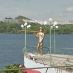 Fisherman Statue, Catemaco, Mexico