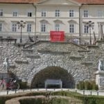 Metal Dogs in Tivoli Castle, Ljubljana, Slovenia