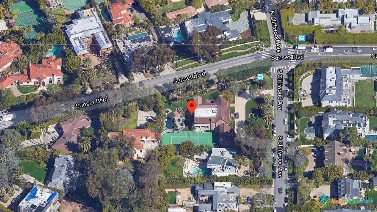Bruce Willis' House, Los Angeles, California, USA