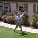 Excited-Looking Skateboard Man, San Luis Obispo, California, USA
