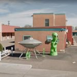 Aliens in the Parking Lot, Roswell, New Mexico, USA