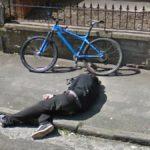 Did He Fall or is He Asleep?, Bristol, England